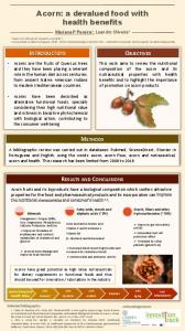 Acorn: a devalued food with health benefits