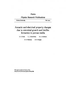 Acoustic and electrical property changes due to ... - Semantic Scholar