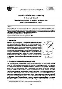 Acoustic emission source modeling