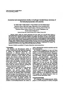 Acoustical and computational studies on hydrogen