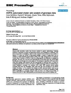 ACPA: automated cluster plot analysis of genotype data