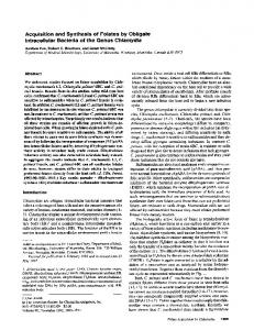 Acquisition and Synthesis of Folates by Obligate Intracellular ... - NCBI