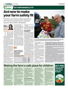 Act now to make your farm safety fit - Teagasc