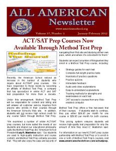 ACT/SAT Prep Courses Now Available Through Method Test Prep