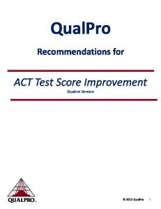 ACT Test Score Improvement