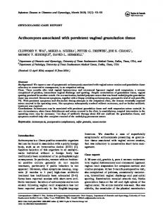 Actinomyces associated with persistent vaginal ... - BioMedSearch