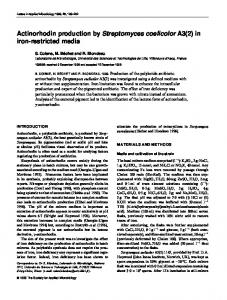 Actinorhodin production by Streptomyces ... - Wiley Online Library