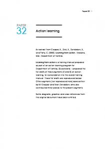 Action learning PAPER - Action Research