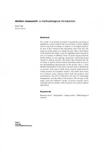 Action research: a methodological introduction