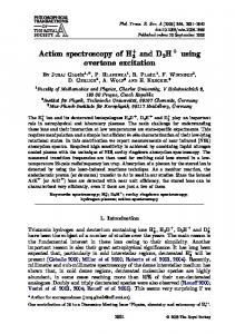 Action spectroscopy of HD and D2HD using overtone ... - TU Chemnitz