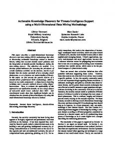 Actionable Knowledge Discovery for Threats ... - Semantic Scholar