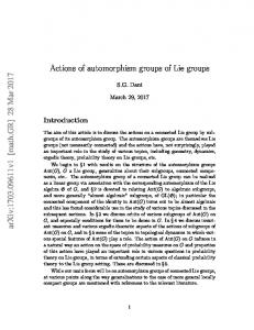 Actions of automorphism groups of Lie groups