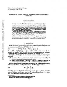 Actions of finite groups and smooth functions on surfaces