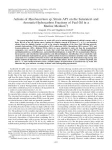 Actions of Mycobacterium sp. Strain AP1 on the Saturated- and ...