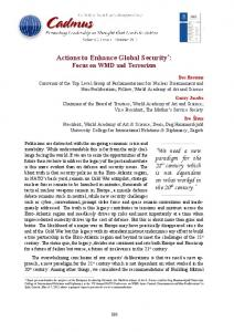 Actions to Enhance Global Security - Cadmus Journal