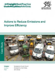 Actions to Reduce Emissions and Improve Efficiency