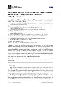 Activated Carbon, Carbon Nanotubes and Graphene - MDPI