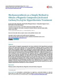 (Activated Carbon/Fe3O4) for Hyperthermia Treatment - Scientific ...