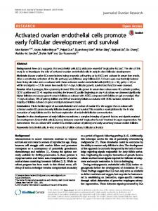 Activated ovarian endothelial cells promote early follicular ...