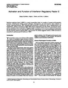 Activation and Function of Interferon Regulatory Factor 5