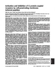 Activation and inhibition of G protein-coupled receptors by cell ...