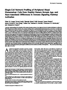 Activation Differences in Immune Signaling Pathway Donors Reveals ...