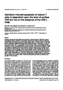 Activation-induced apoptosis of mature T cells is