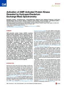 Activation of AMP-Activated Protein Kinase Revealed by ... - Cell Press