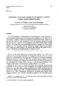 Activation of aromatic amines to mutagens by various ... - Science Direct