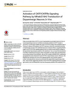 Activation of CNTF/CNTFRα Signaling Pathway by hRheb (S16H ...