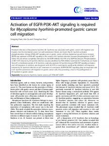 Activation of EGFR-PI3K-AKT signaling is required for ... - Springer Link