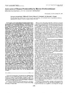 Activation of human prothrombin by human prothrombinase. Influence ...
