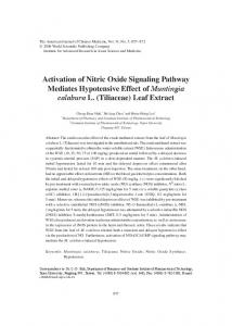 Activation of Nitric Oxide Signaling Pathway Mediates Hypotensive ...