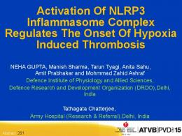 Activation of NLRP3 Inflammasome Complex