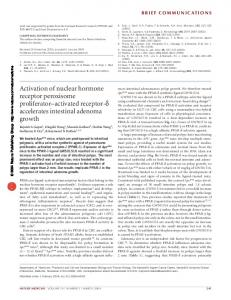 Activation of nuclear hormone receptor peroxisome ... - Nature