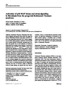 Activation of p38 MAP kinase and stress signalling in ... - ORCA