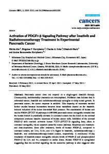 Activation of PDGFr-β Signaling Pathway after Imatinib and ... - MDPI