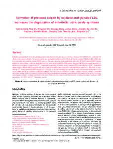 Activation of protease calpain by oxidized and ... - Wiley Online Library