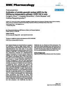 Activation of soluble guanylyl cyclase (sGC) by the NO/heme ...