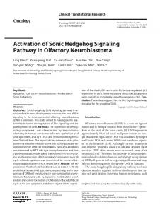 Activation of Sonic Hedgehog Signaling Pathway in ...