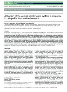 Activation of the central serotonergic system in response ... - CiteSeerX