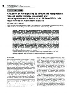 Activation of Wnt signaling by lithium and rosiglitazone reduced spatial ...