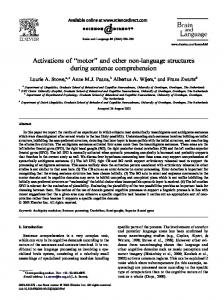 Activations of ''motor'' and other non-language ... - Semantic Scholar