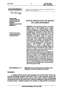 active ageing and its impact on labour market - Economics and ...