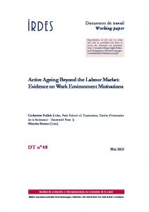 Active Ageing Beyond the Labour Market: Evidence on Work ... - Irdes