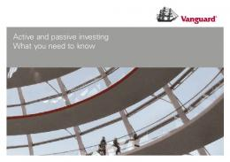 Active and passive investing What you need to know - Vanguard