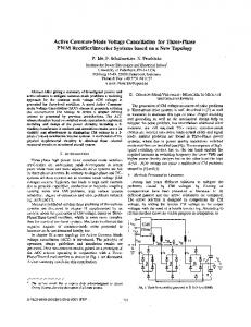 Active common-mode voltage cancellation for three ... - IEEE Xplore