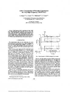 Active compensation of parasitic capacitances for very high ... - IMS