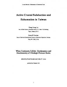 Active Crustal Subduction and Exhumation in Taiwan