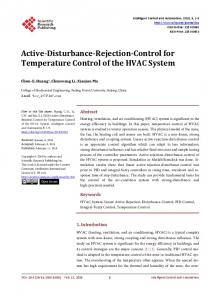 Active-Disturbance-Rejection-Control for Temperature Control of the ...